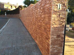 Rebozado muro exterior