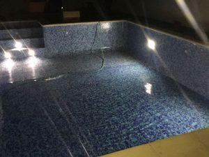 Construcción de piscina nocturna en Tarragona